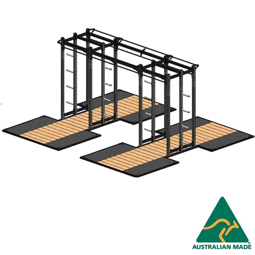 Cage dblhalf + plat 2.4x1.8 x2
