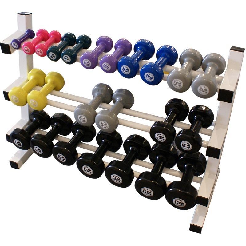 Ivanko Weight Rack: 3 Tier Vinyl Dumbbell Rack