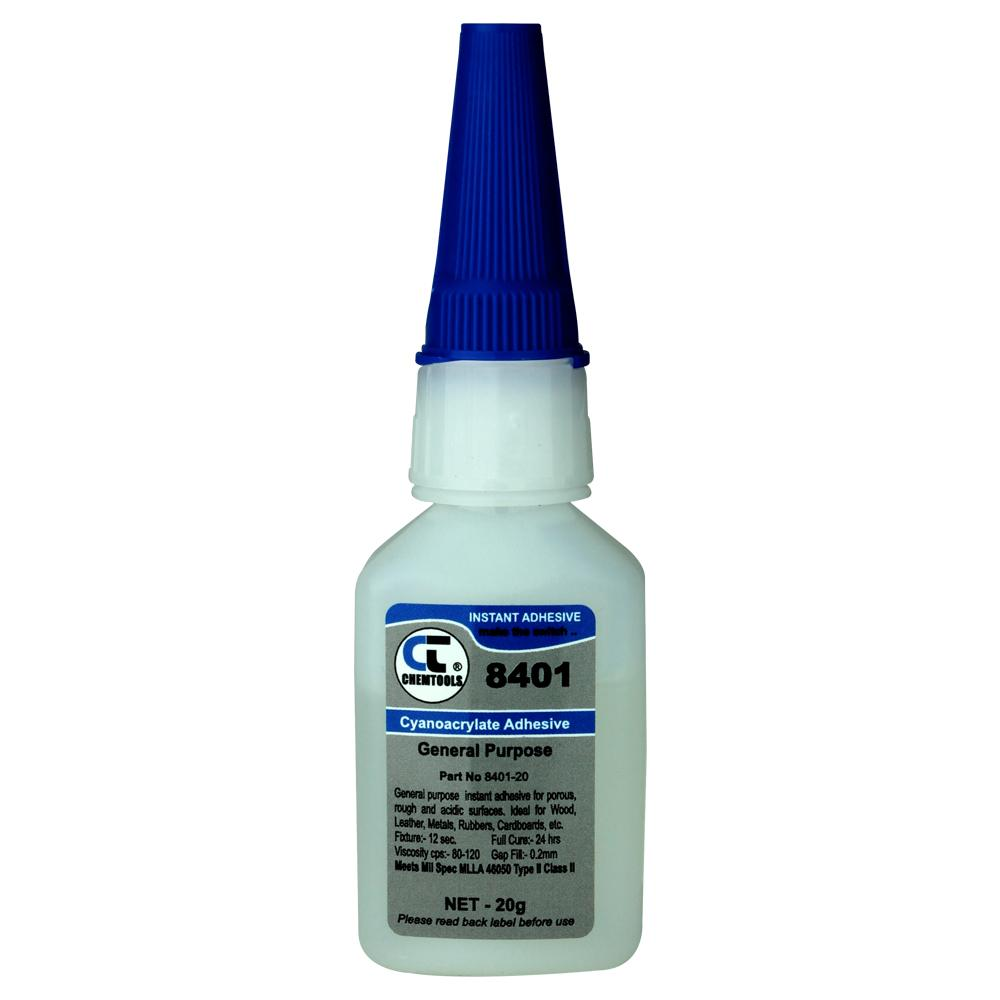 8401 Instant adhesive. Small bottle used to fix designa bell boots & end plates