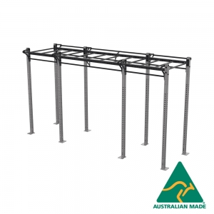 Free-standing dual cell rack with monkey bars