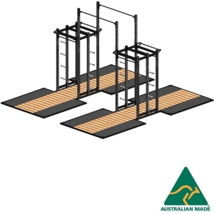 Cage dblhalf+plat2.4X2.4X2+ext
