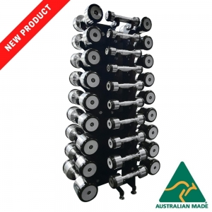 Fortress Compact 14 Pair Designa Bell Dumbbell Rack