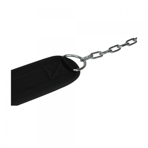 Black nylon Dip Belt with chain.
