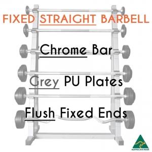 Chrome bar / PU plates / Flush fixed