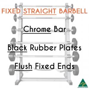 Chrome bar / Blk Rub plates / Flush fixed
