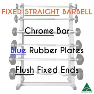 Chrome bar / Blu Rub plates / Flush fixed