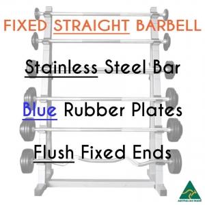 Stainless bar/Blue Rub plates/Flush fixed