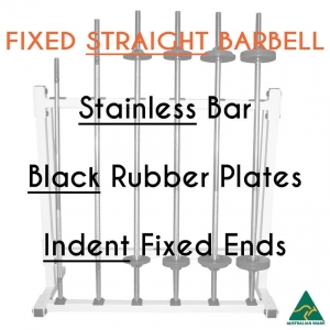 Stainless bar/Blk Rub plates/Indent fixed