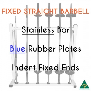 Stainless bar/Blue Rub plates/Indent fixed