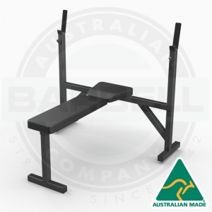 Flat Bench with Olympic Press