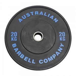 Black Series Bumper Plates (BLKBP-20 - 20kg each, blue print)