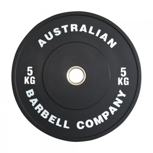 Black Series Bumper Plates (BLKBP-5 - 5kg white print - out of stock)
