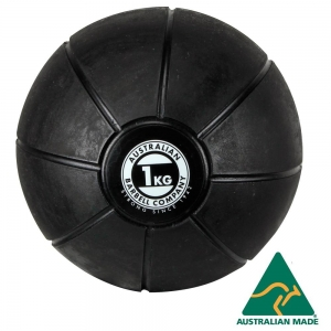 Black Medicine Ball range - commercial quality (BMBK-1 - 1kg - 195mm diametre)