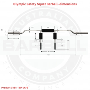 Olympic Safety Squat Barbell-OUTOF STOCK