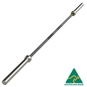 20kg Olympic Barbell - with centre knurl (BO220-SS - Bronze Bushing, Stainless Slve)