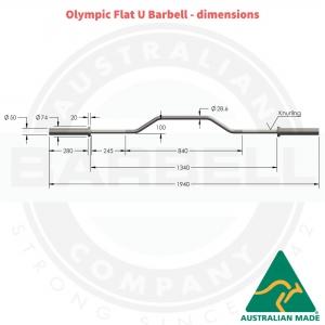 """Flat """"U"""" Olympic Bar"""