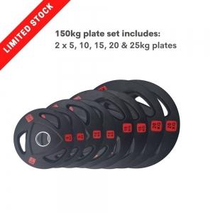 150kg Tri Grip Plate Set