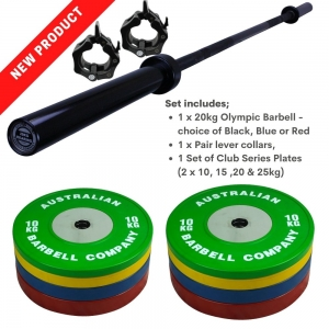 140kg Club Plate & 20kg Bar Pack - Click for more info