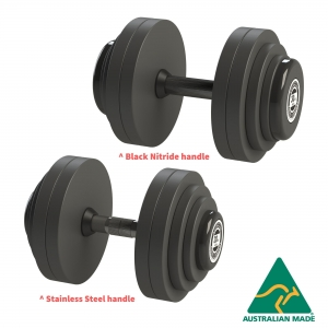Fixed Dumbbells - Grey PU plates - Click for more info