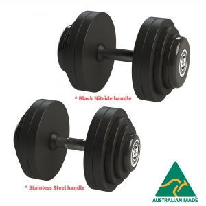 Fixed Dumbbells - Black Rubber plates