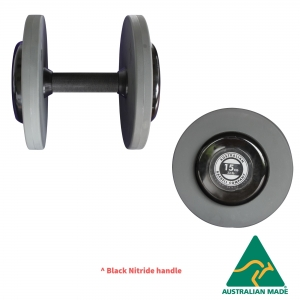 Fixed Dumbbells - Grey PU plates (DFBPGY-2.5 - 2.5kg pair)