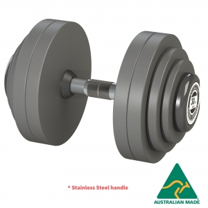 Fixed Dumbbells - Grey PU plates (DFSPGY-2.5 - 2.5kg pair)