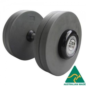 Fixed dumbbells - grey PU plates