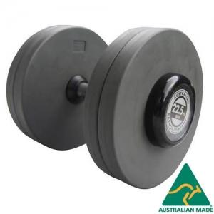 Fixed dumbbells - grey PU plates