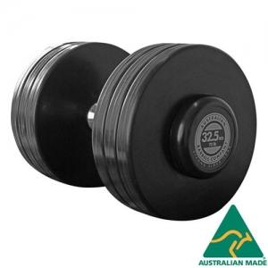 Fixed dumbbells - black rubber plates