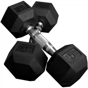 Rubber Ended Hex Dumbbell