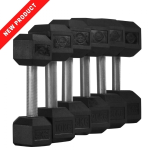 10 Pair Set Hex Dumbells - straight handle