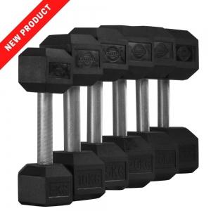 14 Pair Set Hex Dumbells - straight handle