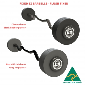 EZ Fixed Barbells - Flush