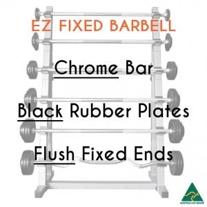 Chrome EZ bar/Blk Rub plates/Flush fixed