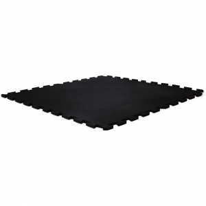 Gym floor tile- blk/interlock