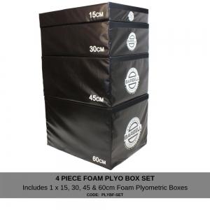 Foam Plyometric box 4 piece set