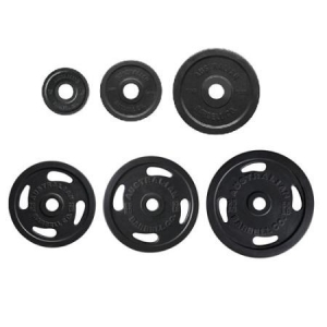 Rubber Olympic Grip plates-black (each)