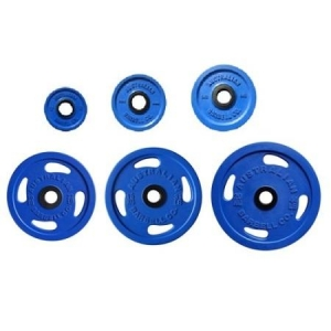 Rubber Olympic Grip plates-blue (each)