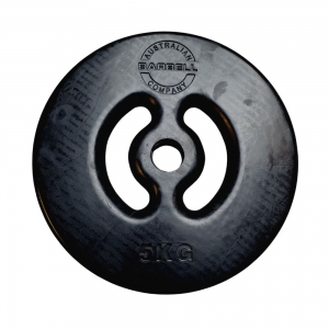 Smiley Plate - black (PSRCSBK-5 - 5kg Smiley Plate - each)
