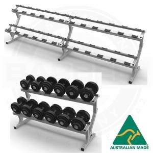Fixed dumbbell racks - double tier