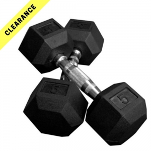 Hex Dumbbells - curved handle.  Clearance range