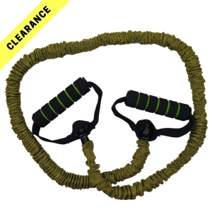 CLEARANCE - Resistance Tube with handles (XCPRT-L - Light - Olive Green)